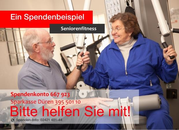 Spendenbeispiel Seniorenfitness (Stockfoto)